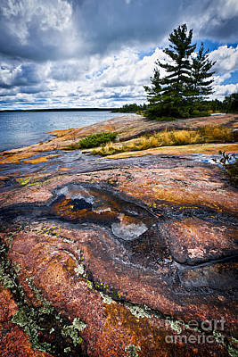 Georgian Bay Photograph - Rocky Shore Of Georgian Bay by Elena Elisseeva