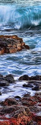 Rocky Shore Right Art Print by Kelley King
