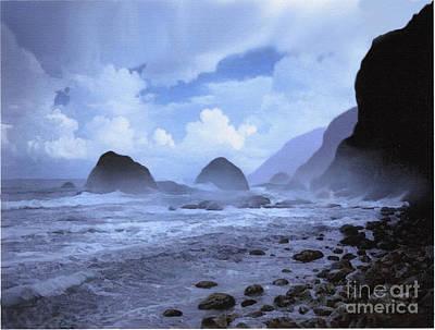 Rocky Digital Art - Rocky Shore by Robert Foster