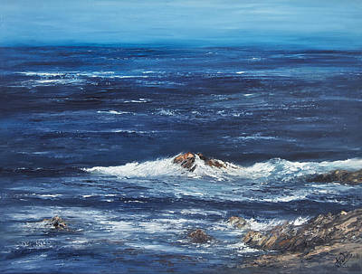 Rocky Shore Art Print by Valerie Travers
