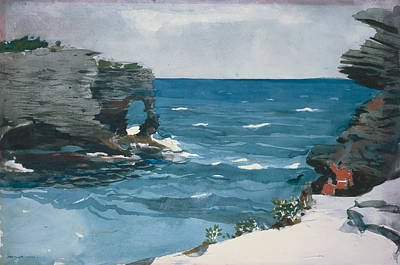 Florida Painting - Rocky Shore by Celestial Images
