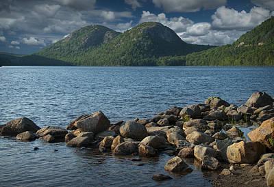 Maine Shoreline Photograph - Rocky Shoreline In Acadia National Park by Randall Nyhof