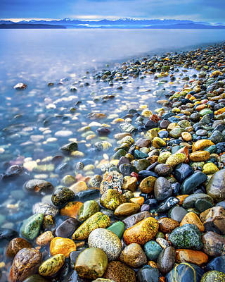 Photograph - Rocky Shoreline by Kyle Wasielewski