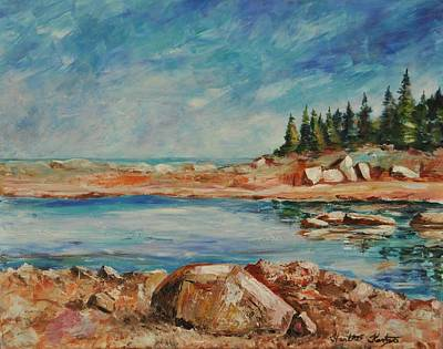 Painting - Rocky Shores by Heather Kertzer