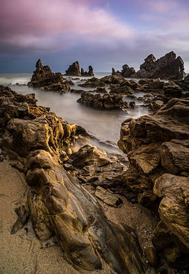Waterscape Photograph - Rocky Southern California Beach 5 by Larry Marshall