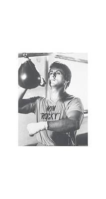 Stallone Digital Art - Rocky - Square by Brand A