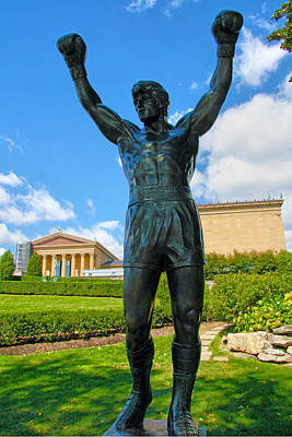 Rocky Statue Photograph - Rocky Statue by Mitch Cat