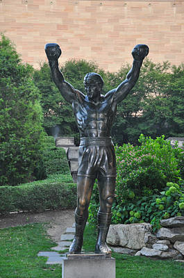 Rocky Statue - Philadelphia Art Print by Bill Cannon
