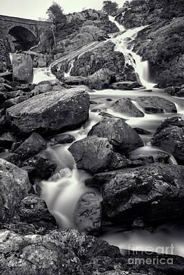 Lichen Photograph - Rocky Stream by Adrian Evans