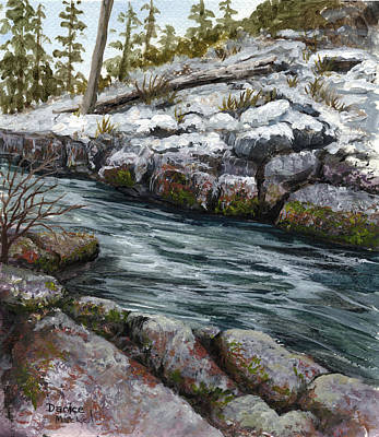 Painting - Rocky Stream by Darice Machel McGuire