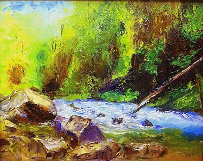 Painting - Rocky Stream by Gail Kirtz