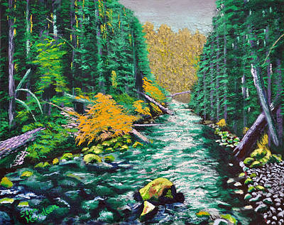 Painting - Rocky Stream by Stan Hamilton