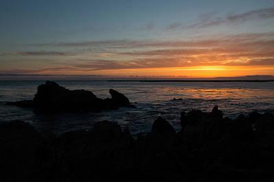 Rocky Sunset At Corona Del Mar Art Print by John Daly
