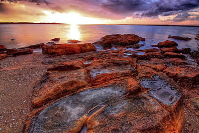 Photograph - Rocky Sunset by Paul Svensen