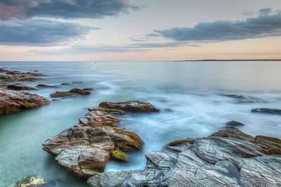 Photograph - Rocky Sunset Seascape  by Joshua McDonough