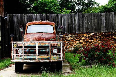 Rocky Cobblestone Truck Art Print by Toni Hopper