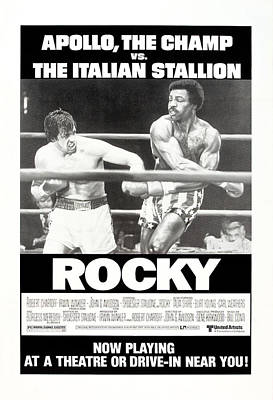 1970s Movies Photograph - Rocky, Us Poster, Sylvester Stallone by Everett