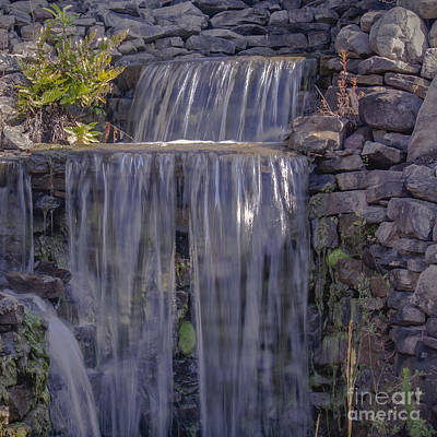 Photograph - Rocky Waterfall by Michael Waters