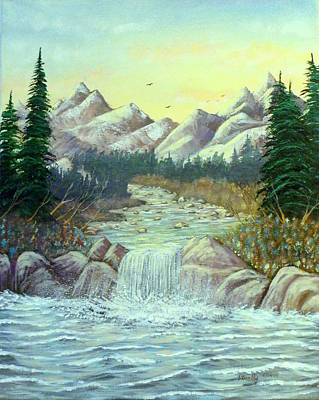 Rocky Waters Print by David Bentley