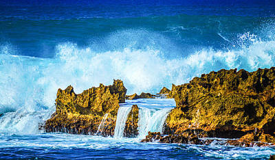 Photograph - Rocky Waves North Shore by Lisa Cortez
