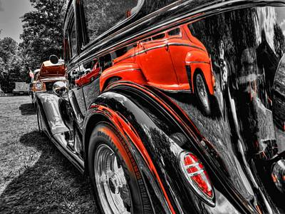 1935 Chevrolet Sedan Photograph - Rod Reflections by Lance Vaughn