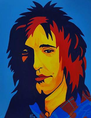 Painting - Rod Stewart   by Edward Pebworth
