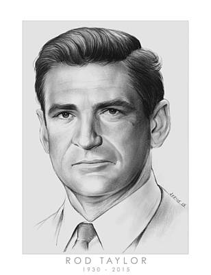 Rod Drawing - Rod Taylor by Greg Joens