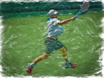 Roddick Return Art Print