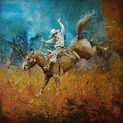 Dallas Painting - Rodeo 001 by Corporate Art Task Force