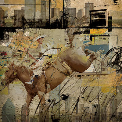 Rodeo Abstract 001 Print by Corporate Art Task Force