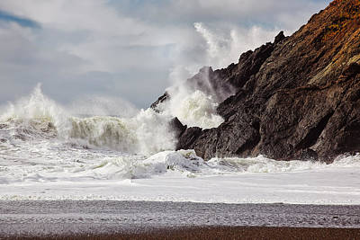 Sausalito Photograph - Crash Into Me - Pacific Ocean Uproar by Henry Inhofer