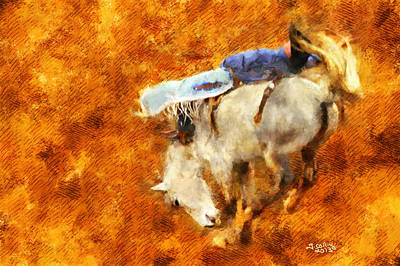Art Print featuring the painting Eight-second Ride by Greg Collins