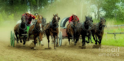 Chuck Wagon Photograph - Rodeo Chuck Wagons On The Run by Bob Christopher