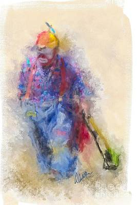 Painting - Rodeo Clown by Andrea Auletta