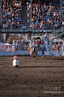 Of Rodeo Events Photograph - Rodeo Clown by Chris Selby