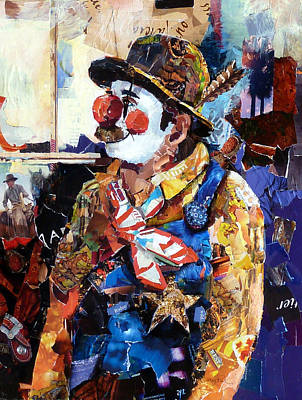 Clown Art Painting - Rodeo Clown by Suzy Pal Powell
