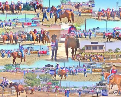 Photograph - Rodeo Collage by Marilyn Diaz