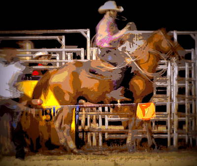 Photograph - Rodeo Cowboy Calf Roper by Sheri McLeroy