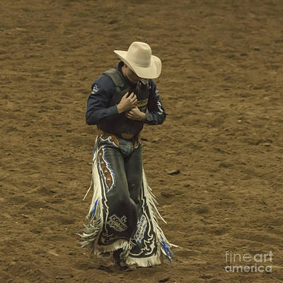 Rodeo Cowboy Dusting Off Art Print by Janice Rae Pariza