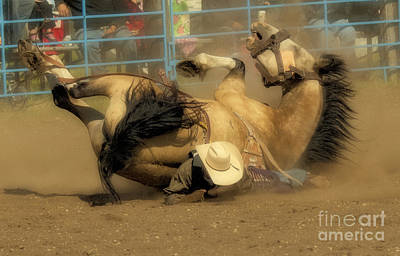 Horse Back Riding Photograph - Rodeo Crunch Time 1 by Bob Christopher