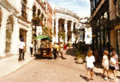 Digital Art - Rodeo Drive Beverly Hills La by Asbjorn Lonvig