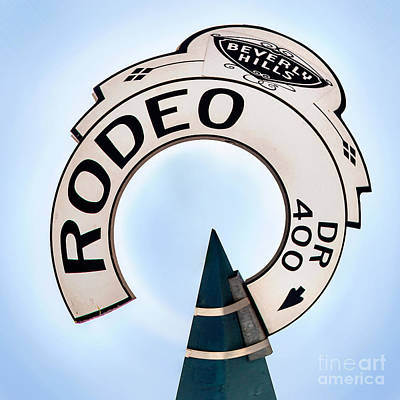 Photograph - Rodeo Drive Sign Circagraph by Az Jackson