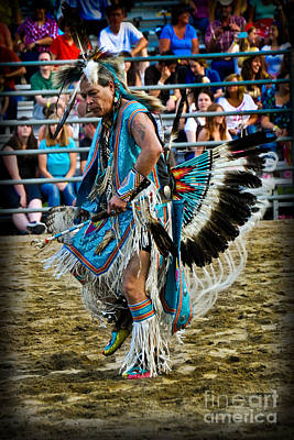 Photograph - Rodeo Indian Dance by Gary Keesler