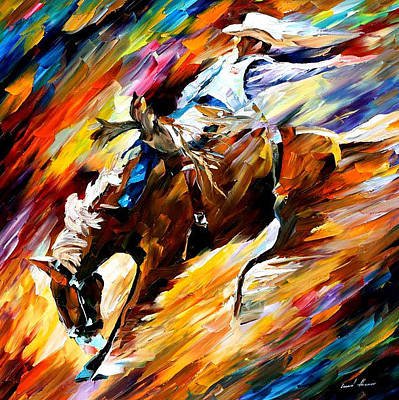 Free Shipping Wall Art - Painting - Rodeo - Palette Knife Oil Painting On  Canvas By 66adaa3a1c3b