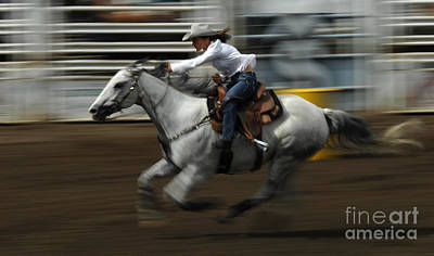 Barrel Racing Photograph - Rodeo Riding A Hurricane 1 by Bob Christopher
