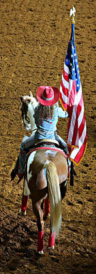 Palomino Photograph - Rodeo Salute by Stephen Stookey