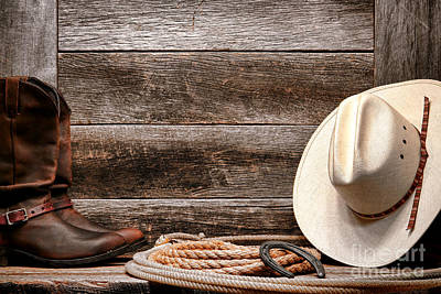 Lariat Photograph - Rodeo Still Life by Olivier Le Queinec