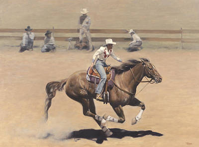 Barrel Painting - Rodeo by Terry Guyer
