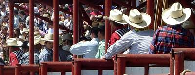 Photograph - Rodeo Time Cowboys by Susan Garren