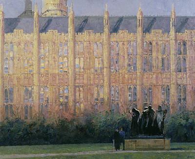 Gothic Revival Photograph - Rodin In London Oil On Canvas by Bob Brown